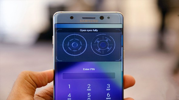 How Galaxy Note 7 iris scanner works