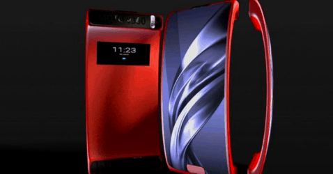 Motorola V360 Curved Screen
