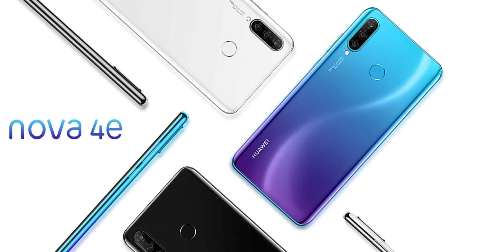 Huawei Nova 4e official