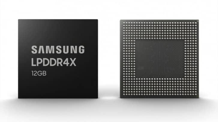 Samsung produces 12GB LPDDR4X DRAM modules